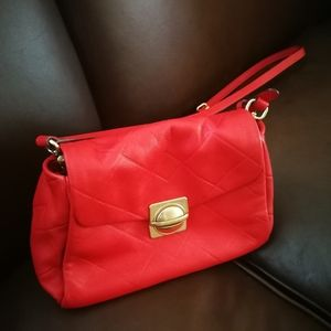 Marc jacobs red leather crossbody bag